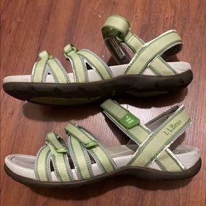 LL bean green sandals ladies size 7